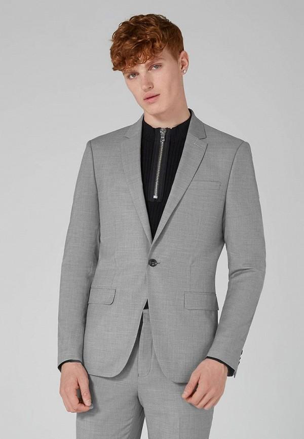 Фото - мужской пиджак Topman серого цвета