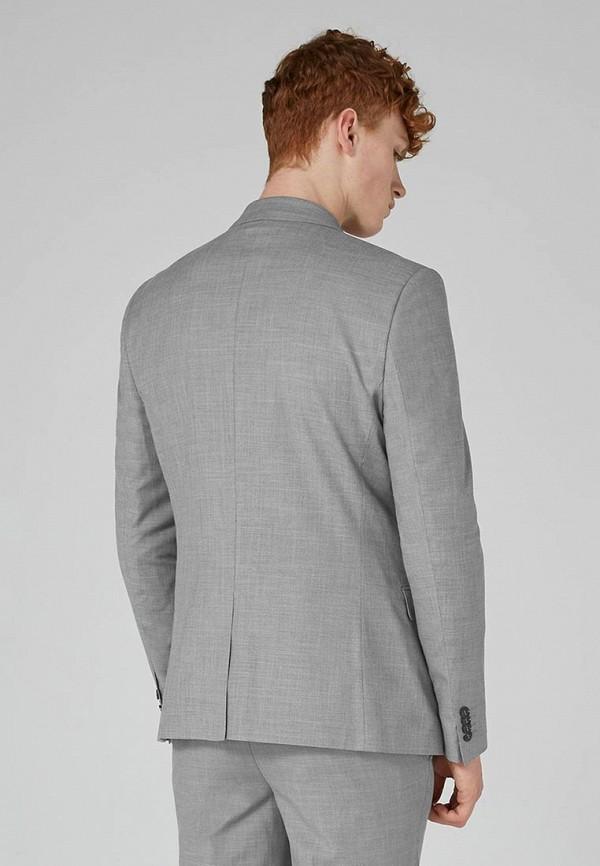 Фото 2 - мужской пиджак Topman серого цвета