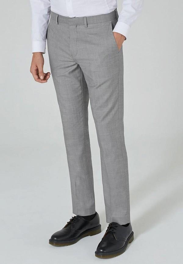 мужские прямые брюки topman, серые