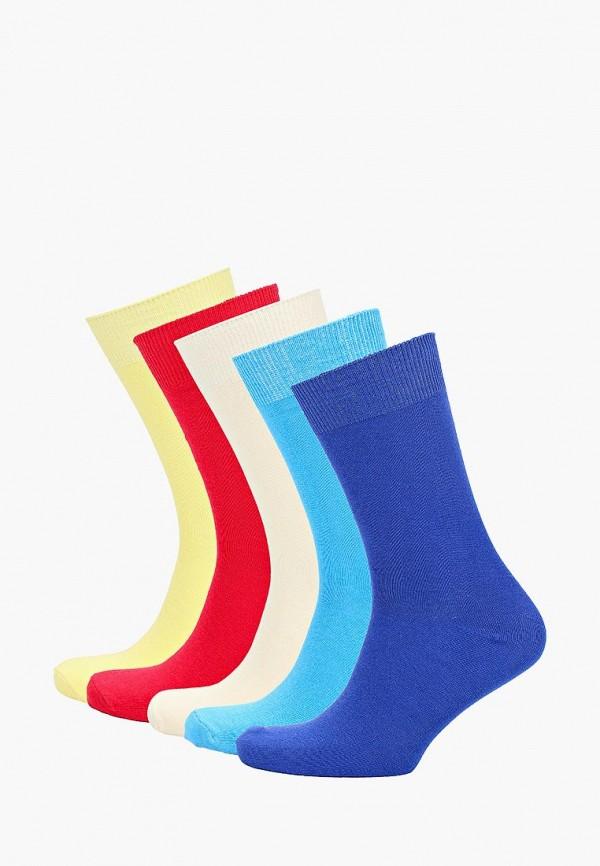 Носки  бежевый, голубой, желтый, красный, синий цвета
