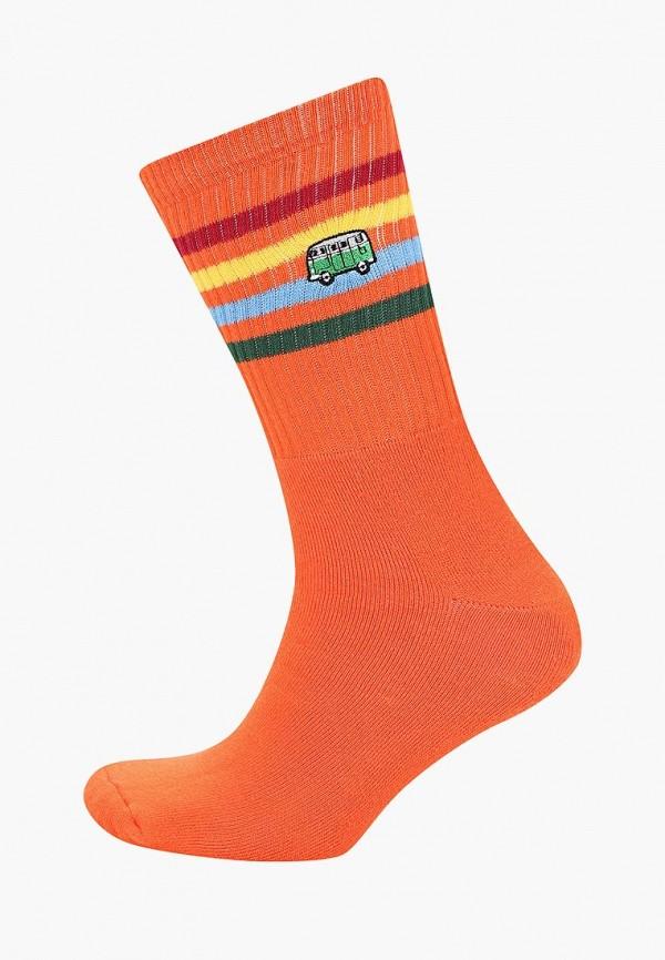 Носки  оранжевый цвета