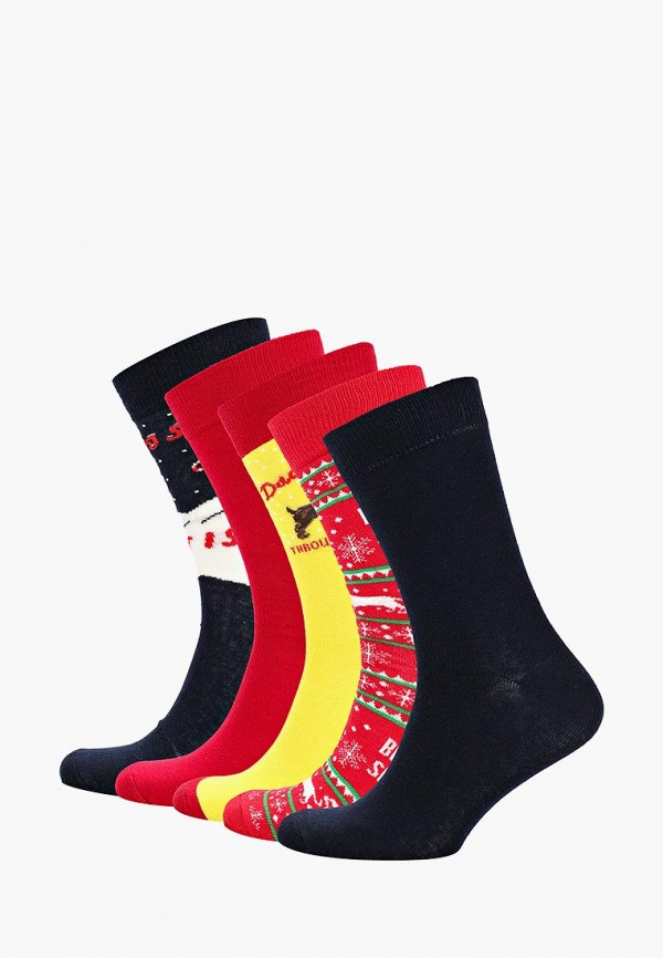 Носки  желтый, красный, синий цвета