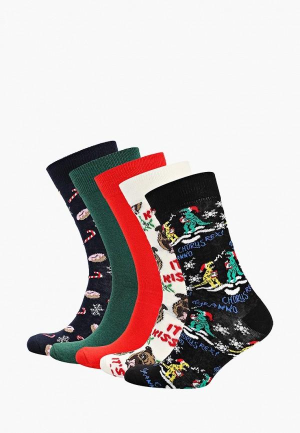 Носки  белый, зеленый, красный, синий цвета