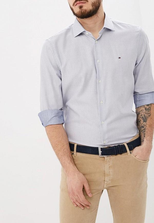 Фото - мужскую рубашку Tommy Hilfiger синего цвета