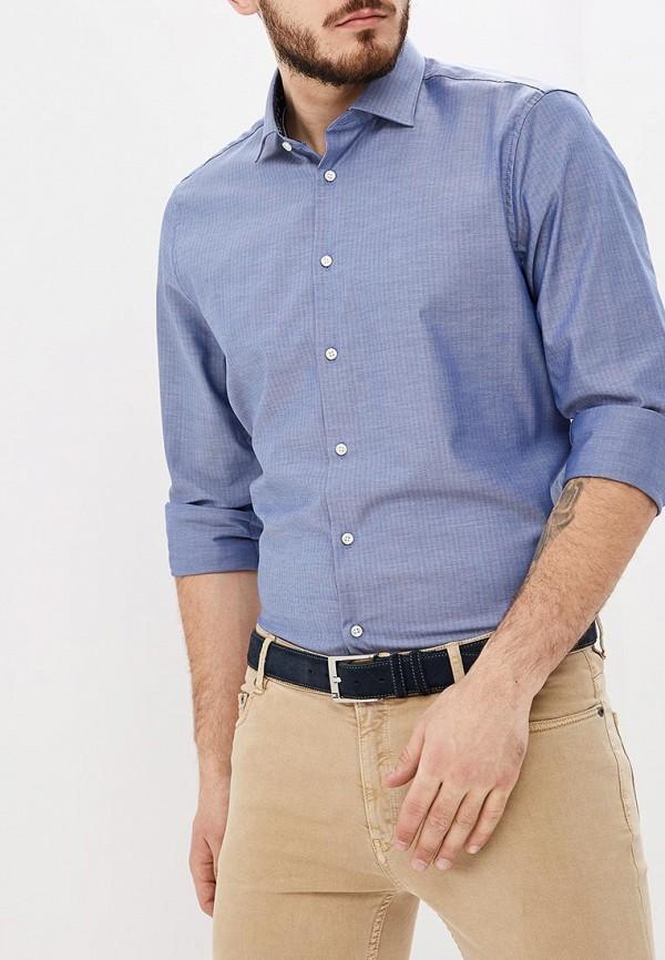 мужская рубашка с длинным рукавом tommy hilfiger, синяя