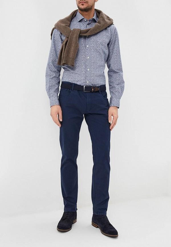 Фото 2 - мужскую рубашку Tommy Hilfiger синего цвета