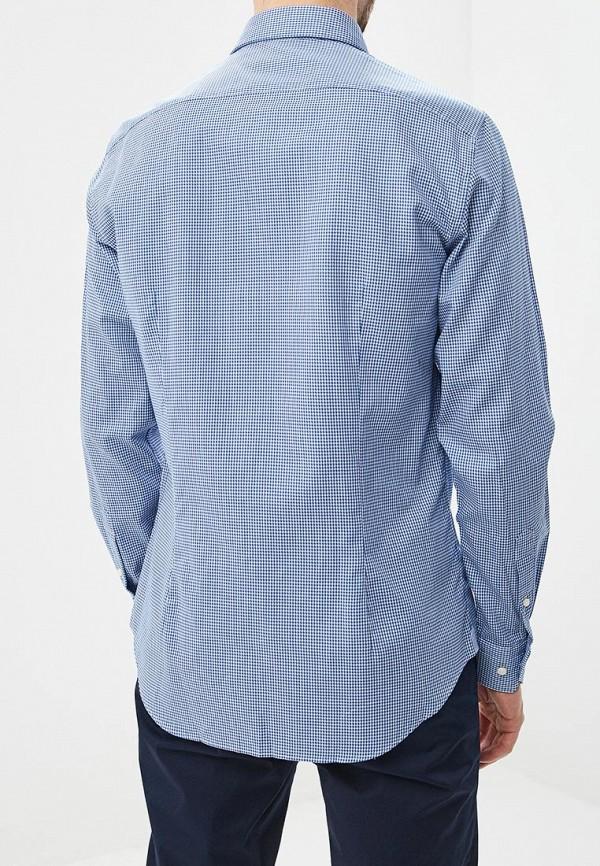 Фото 3 - мужскую рубашку Tommy Hilfiger синего цвета