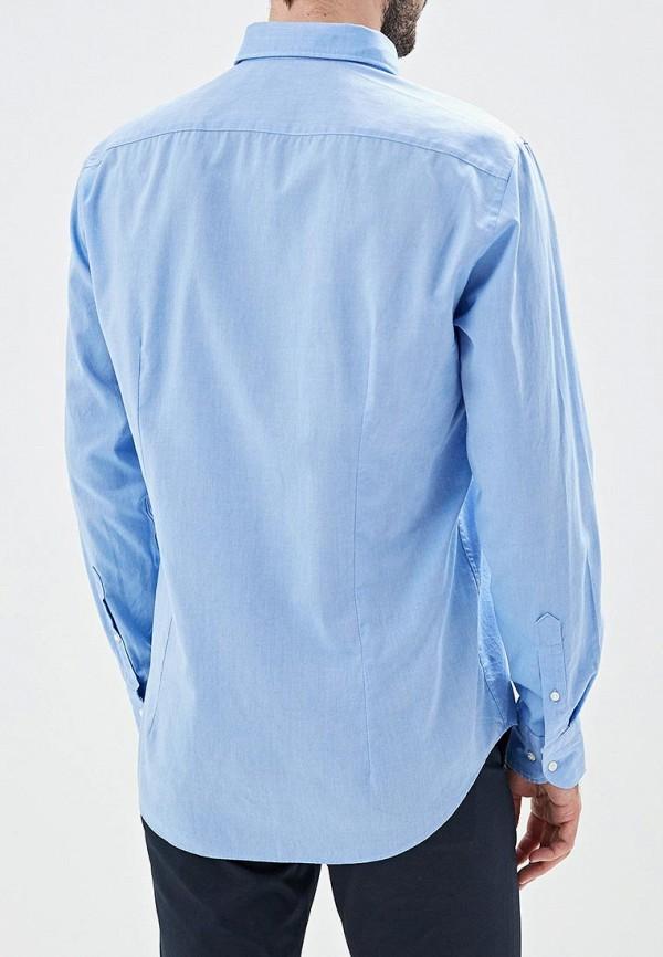 Фото 3 - мужскую рубашку Tommy Hilfiger голубого цвета