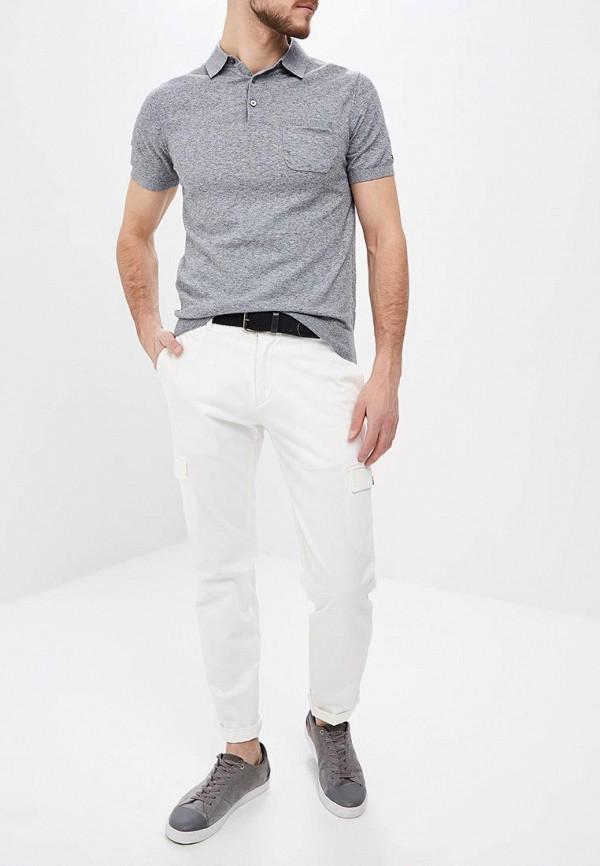 Фото 2 - мужское поло Tommy Hilfiger серого цвета