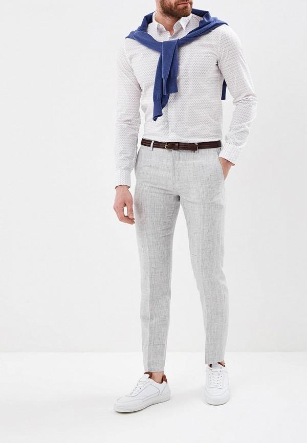 Фото 2 - мужские брюки Tommy Hilfiger серого цвета