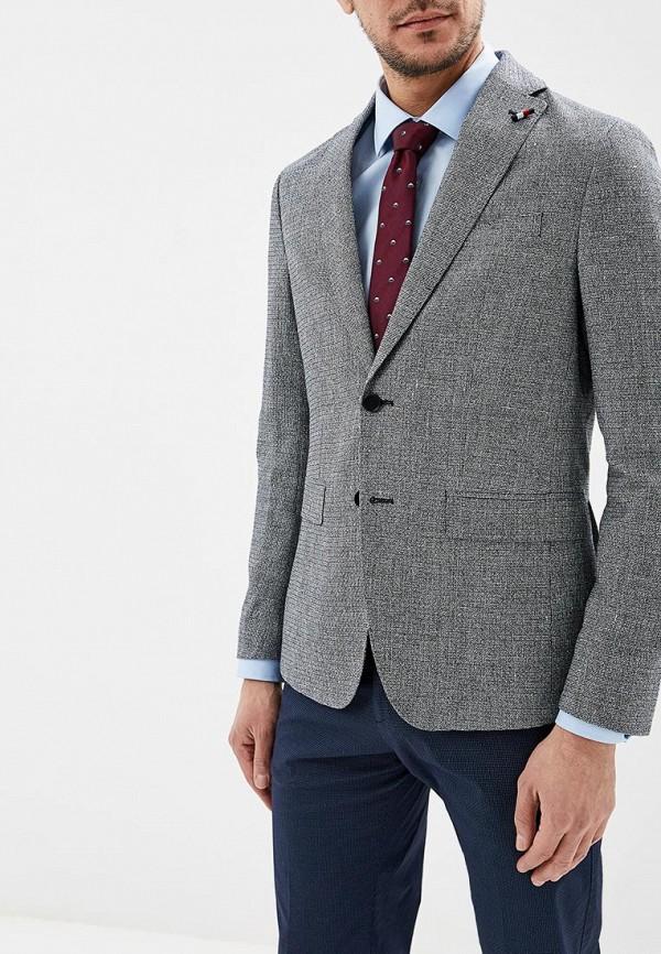 мужской пиджак tommy hilfiger, серый