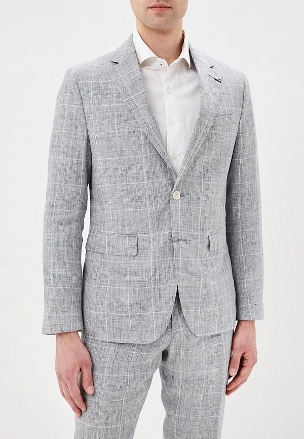 Фото 2 - мужской костюм Tommy Hilfiger серого цвета