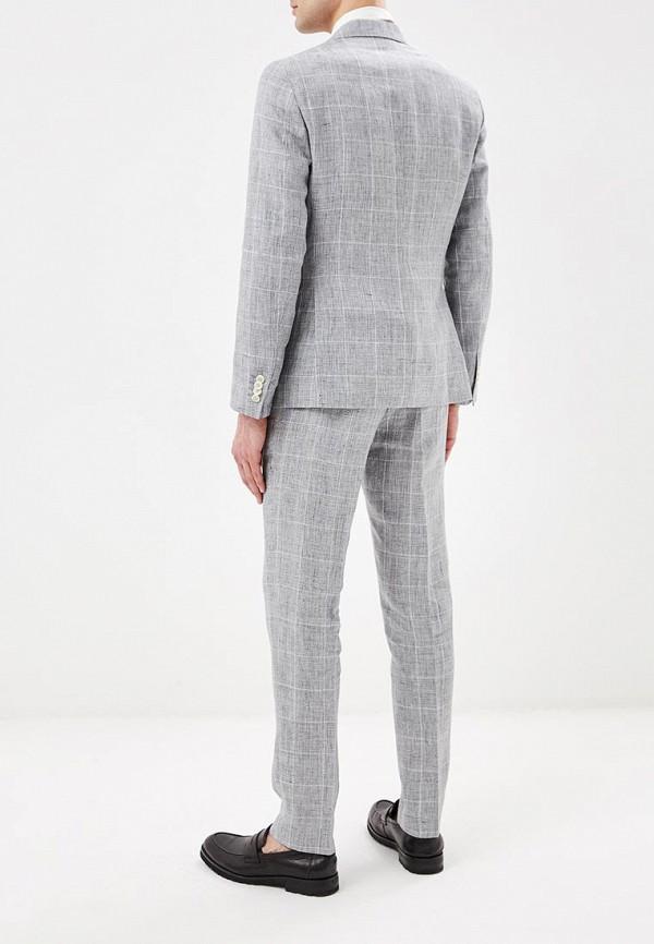 Фото 3 - мужской костюм Tommy Hilfiger серого цвета