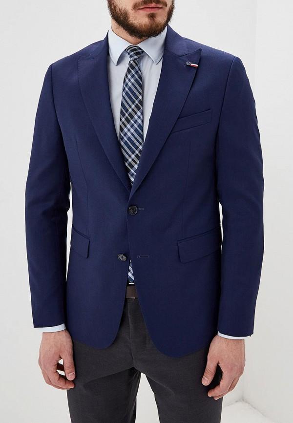 Фото - мужской пиджак Tommy Hilfiger синего цвета