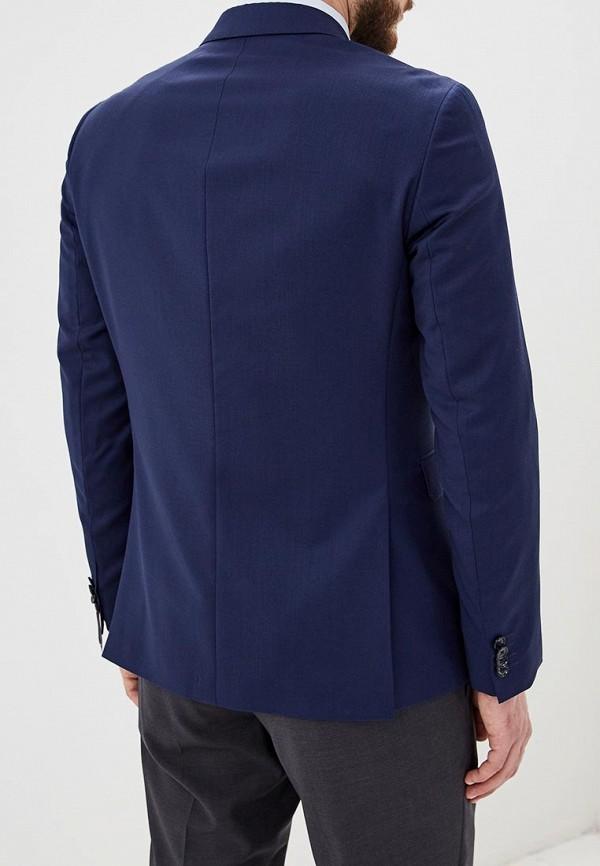 Фото 3 - мужской пиджак Tommy Hilfiger синего цвета