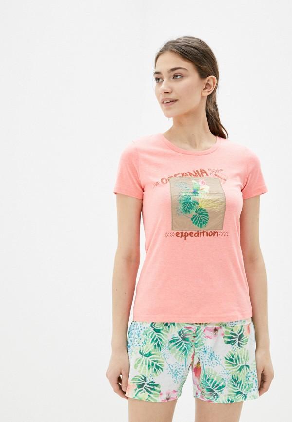 женская спортивные футболка torstai, розовая