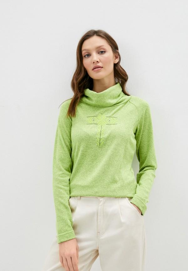 женская водолазка torstai, зеленая