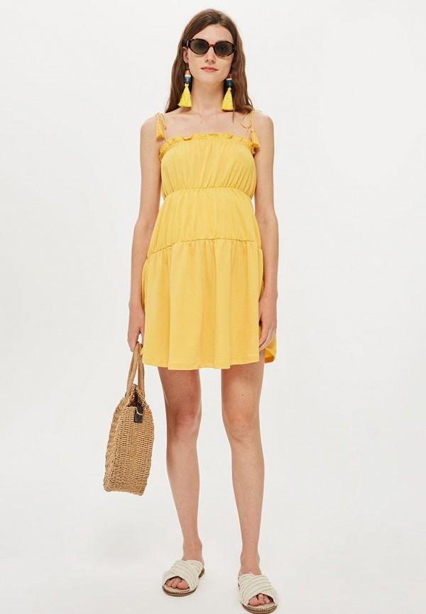 женский сарафан topshop maternity, желтый