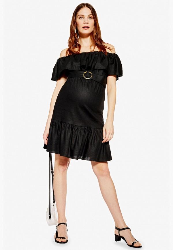 женское платье topshop maternity, черное