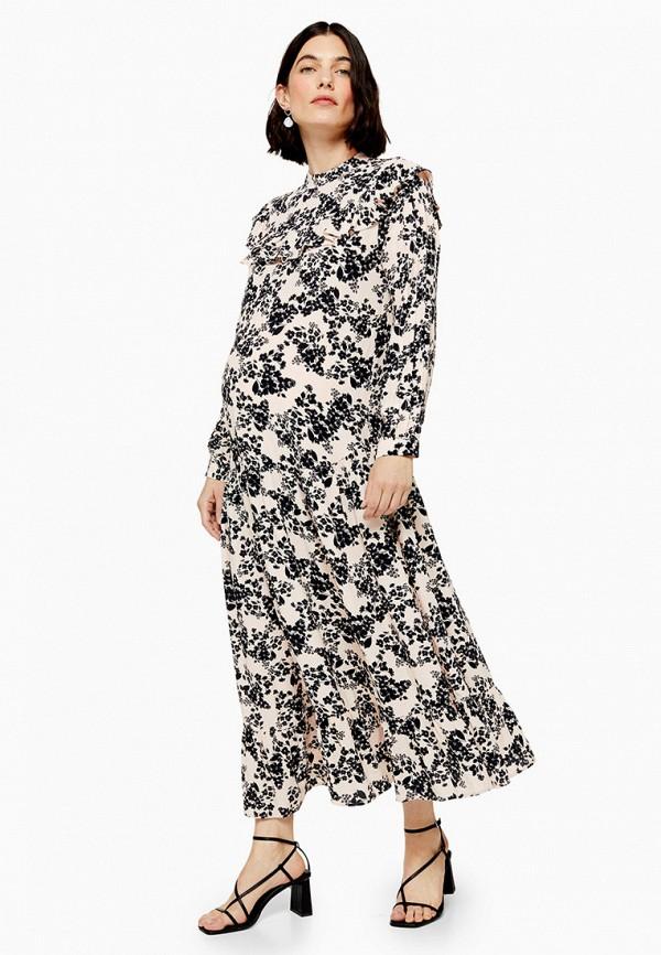 женское платье для беременных topshop maternity, бежевое