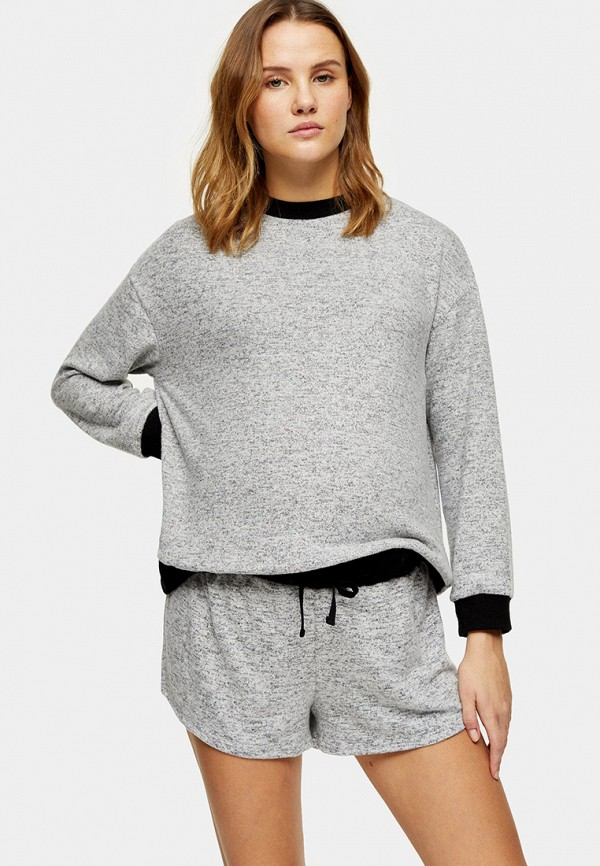 женский свитшот topshop maternity, серый