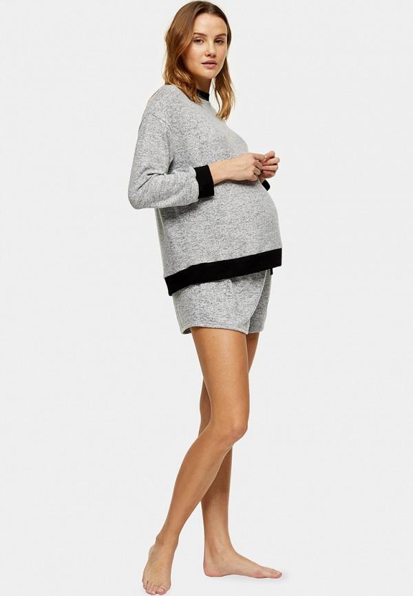 женские шорты topshop maternity, серые