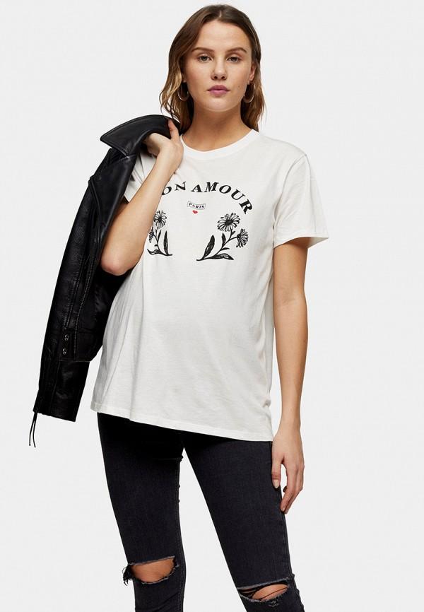 женская футболка topshop maternity, белая