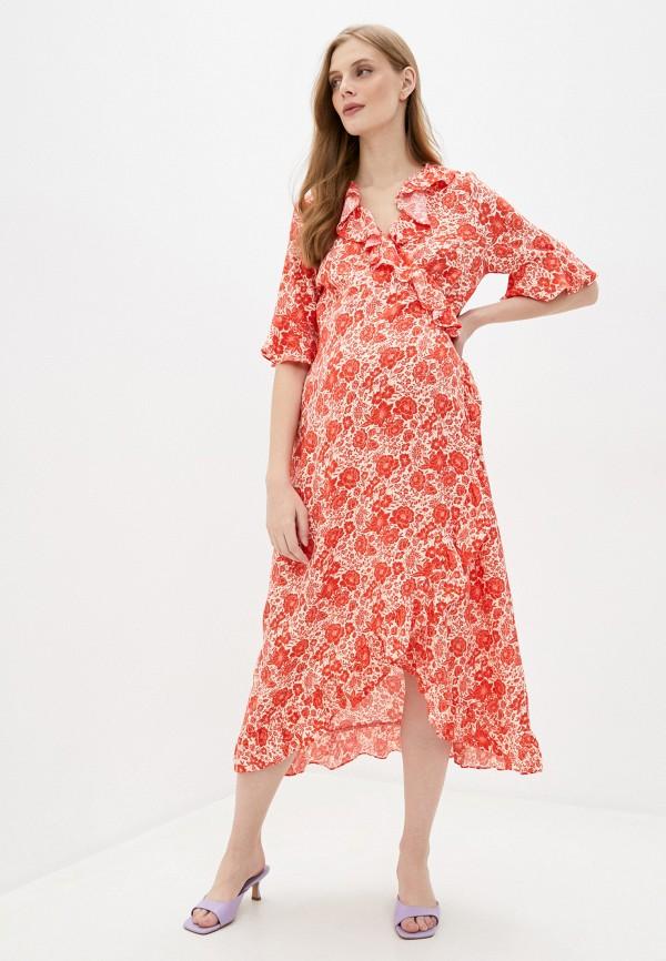 женское платье topshop maternity, красное