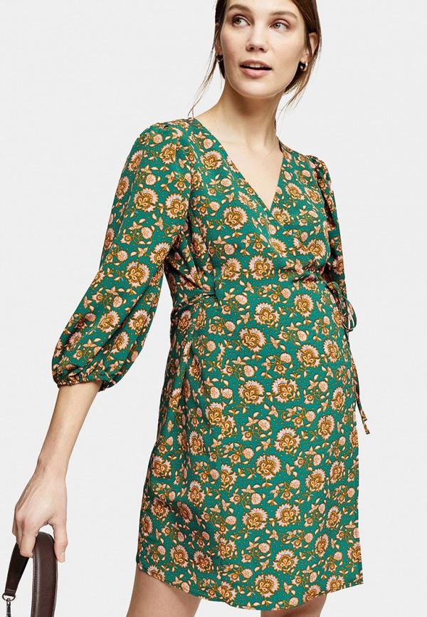 женское повседневные платье topshop maternity, зеленое