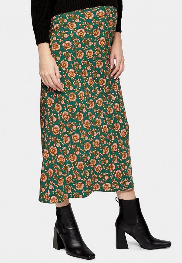 женская юбка topshop maternity, зеленая