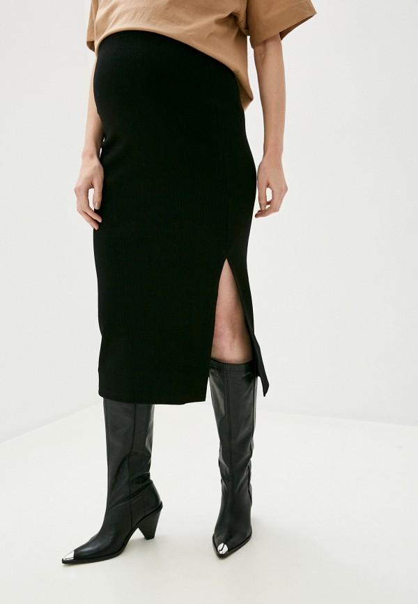 женская юбка topshop maternity, черная