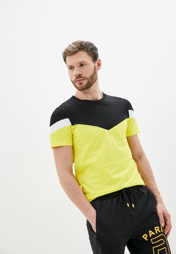 мужская футболка с коротким рукавом tony backer, желтая