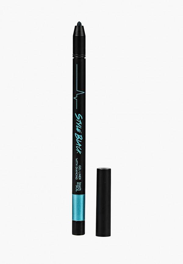 карандаш для глаз touch in sol, бирюзовый