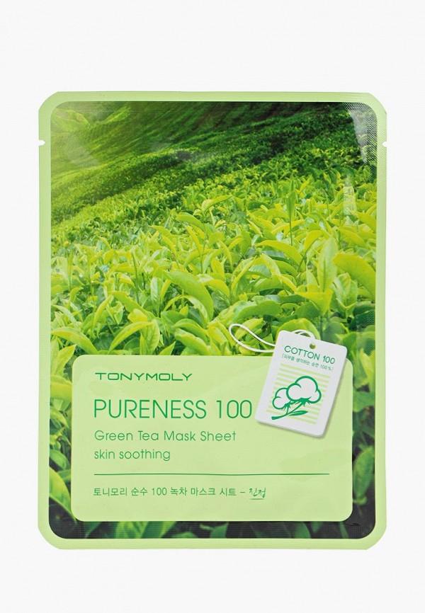 Купить Маска для лица Tony Moly, тканевая (зеленый чай), 21 мл, to047lwvsf58, Осень-зима 2018/2019