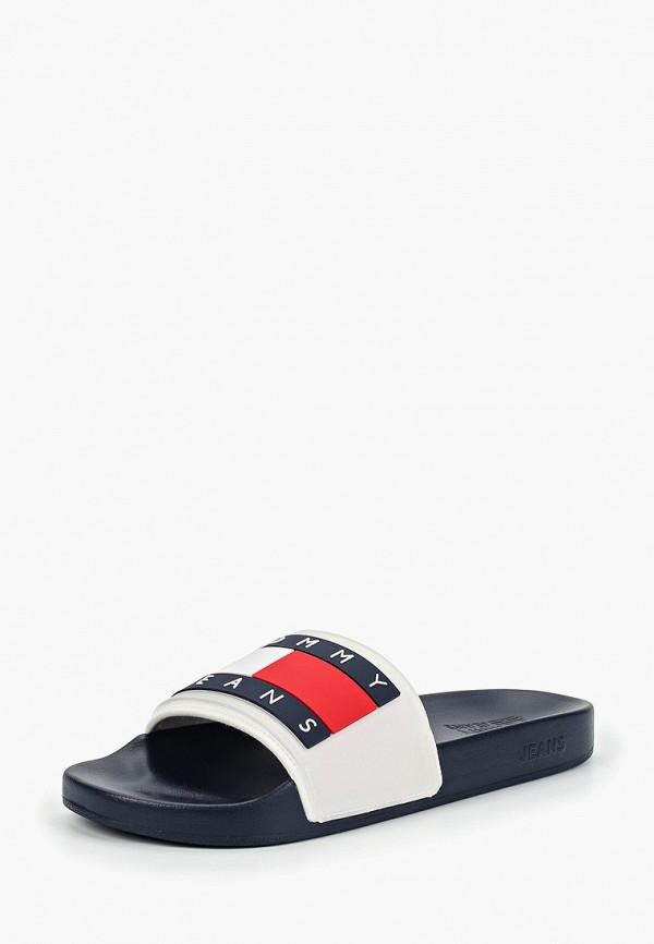 Фото 7 - мужские сандали Tommy Jeans белого цвета