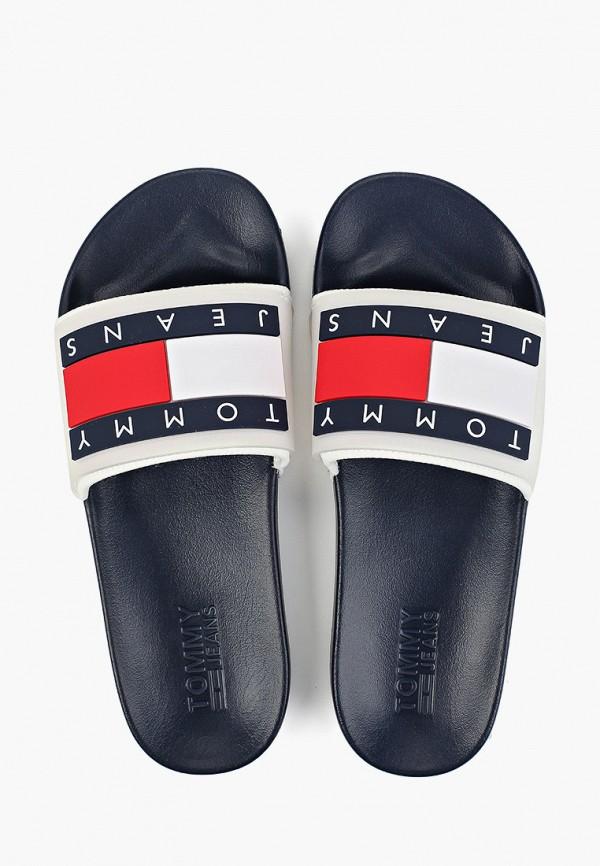 Фото 9 - мужские сандали Tommy Jeans белого цвета