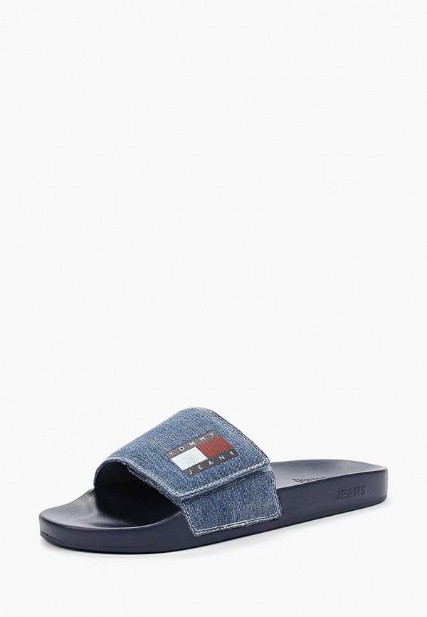 Фото 2 - Сабо Tommy Jeans синего цвета