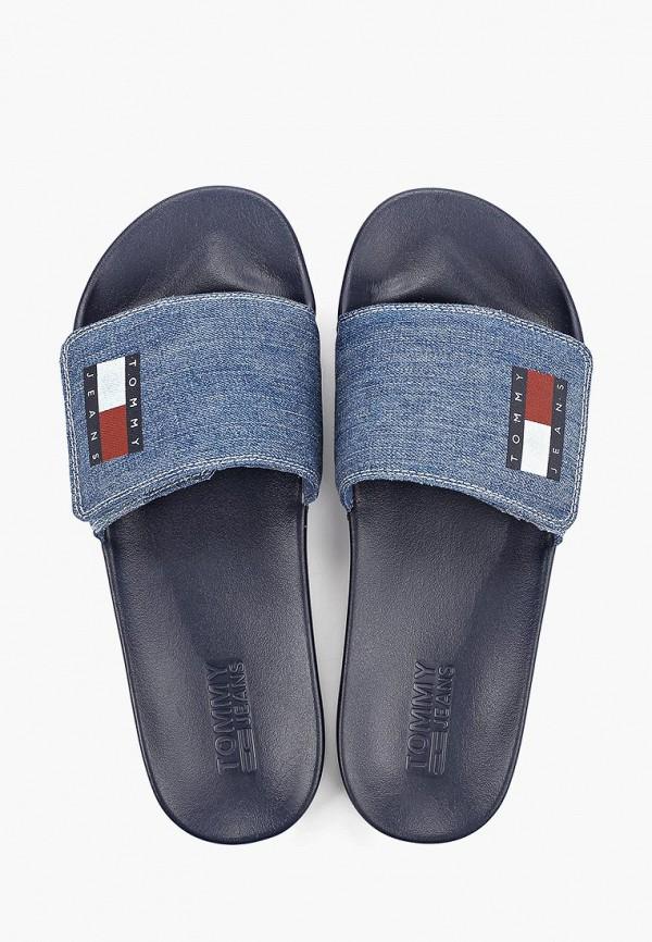 Фото 4 - Сабо Tommy Jeans синего цвета