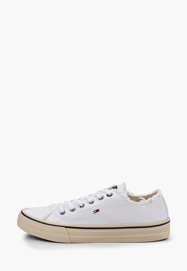 Фото - мужские кеды Tommy Jeans белого цвета