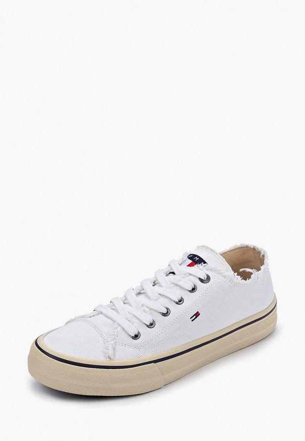 Фото 2 - мужские кеды Tommy Jeans белого цвета