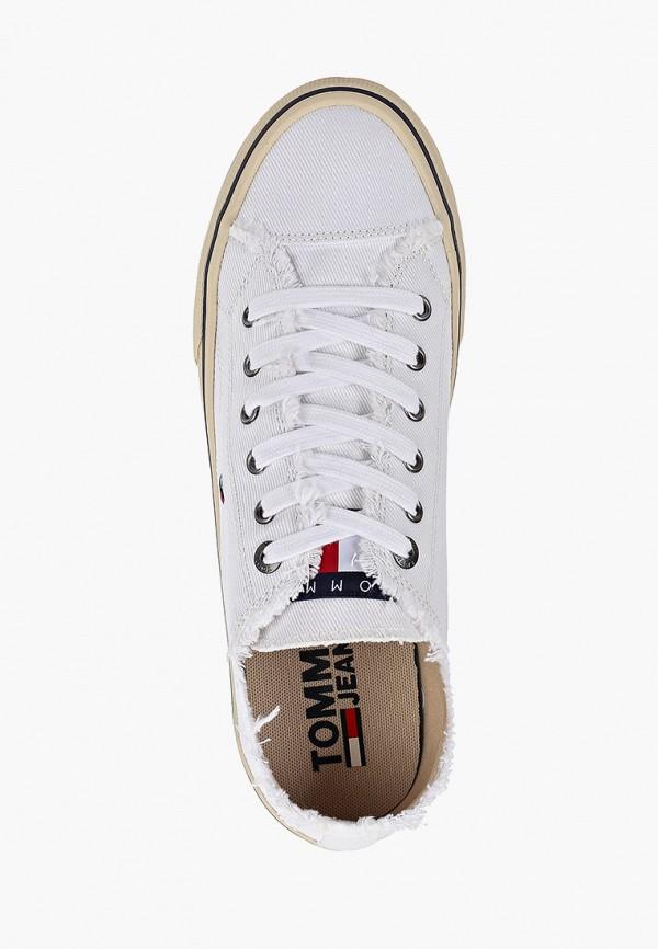 Фото 4 - мужские кеды Tommy Jeans белого цвета