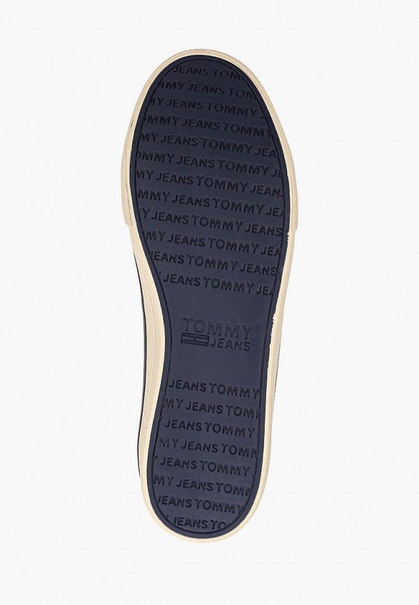 Фото 5 - мужские кеды Tommy Jeans белого цвета