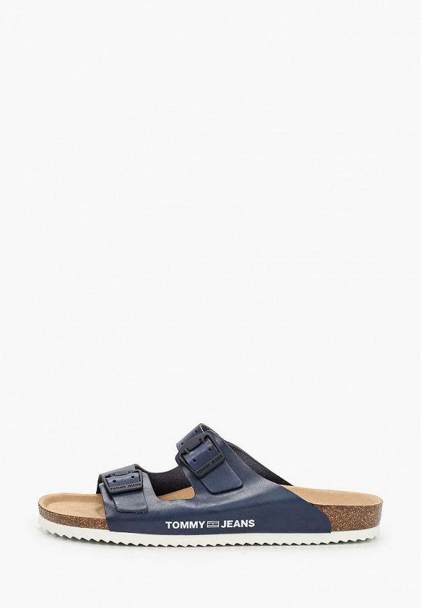 мужское сабо tommy jeans, синее