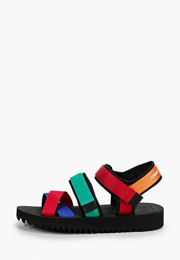 мужские сандалии tommy jeans, разноцветные