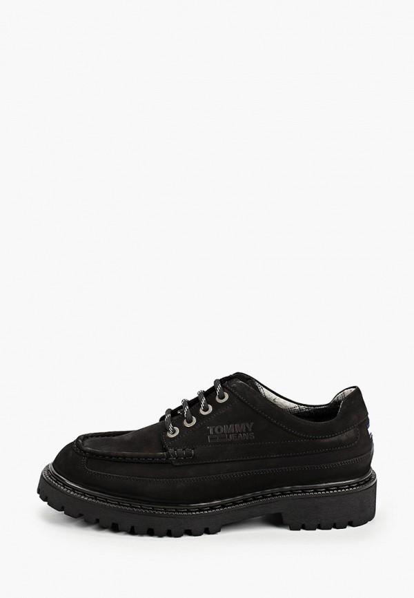 мужские туфли tommy jeans, черные
