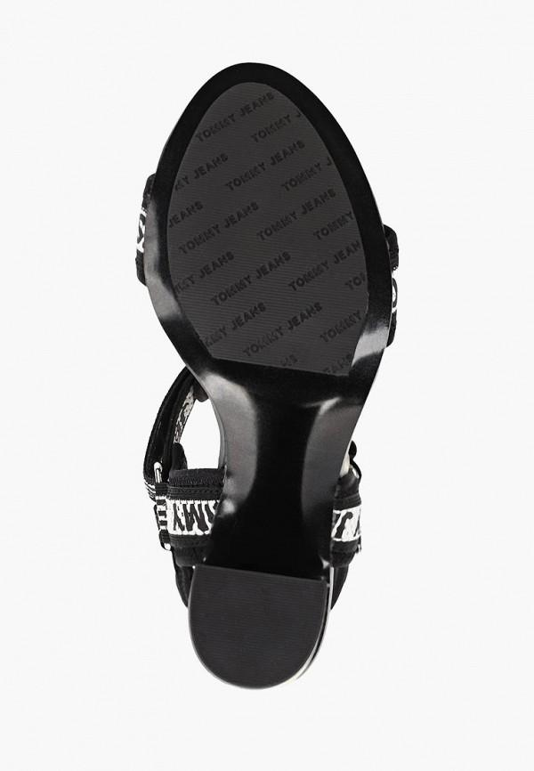 Фото 5 - женские босоножки Tommy Jeans черного цвета