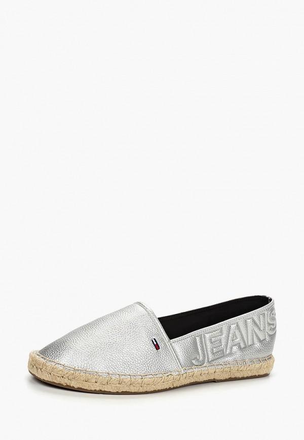Фото 2 - Эспадрильи Tommy Jeans серебрянного цвета