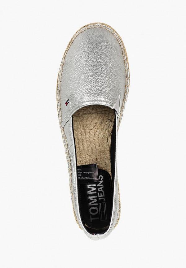 Фото 4 - Эспадрильи Tommy Jeans серебрянного цвета