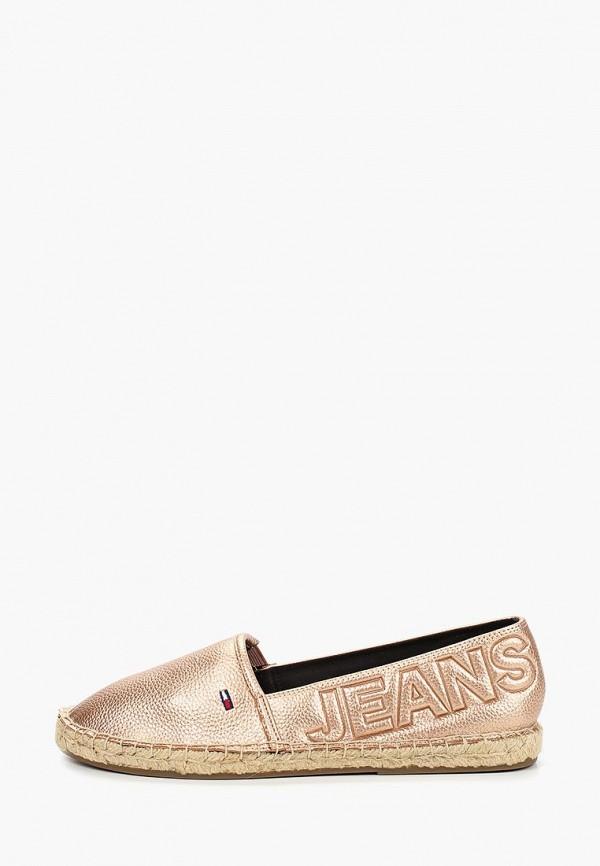 Фото - Эспадрильи Tommy Jeans золотого цвета