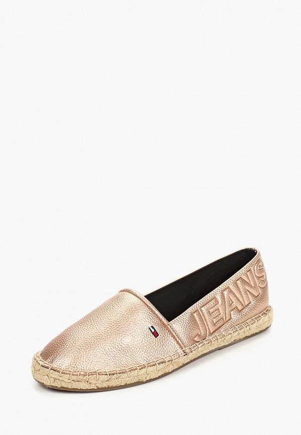 Фото 2 - Эспадрильи Tommy Jeans золотого цвета